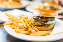 Delicious Cheese Hamburger On ...