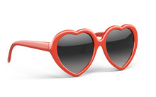 Red Heart Glasses Isolated On ...