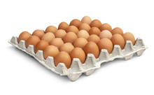 Eggs In The Cardboard Egg Tray...