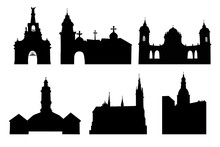 Set Illustration Of A Churches...