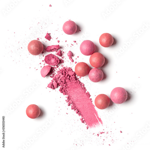 Smear of pink ball blusher Canvas Print