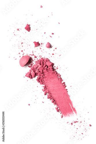 Photo Smear of pink ball blusher