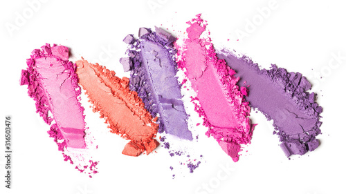 Photo Smear of bright colored eyeshadow