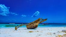 Boot Am Strand Von Sansibar