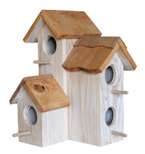 Nest Box Birdhouse House For Birds Handmade Craft Isolated On White