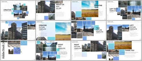 Obraz na plátne Presentation design vector template, multipurpose template for presentation slide, flyer, brochure cover design, infographic