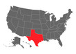 Texas vector map. High detailed illustration. United state of America country