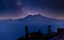 Starry Night Over Mt. Etna In ...