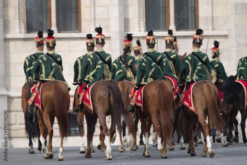 Fotomural  Hungarian hussars on horseback.