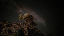 Nachthimmel Am Equator Im Afri...