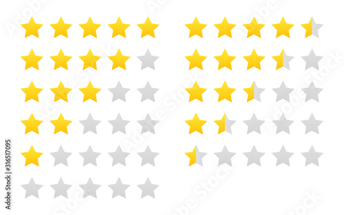 Cuadros en Lienzo Star rating vector isolated icon