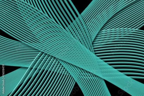 Fondo negro con lineas y redes curvas azul. Tapéta, Fotótapéta