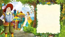 Cartoon Scene With Princess In...