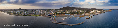 Aerial view of the West Australian town of Albany, an important shipping port an Fototapet