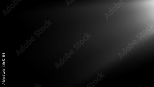 Fotografia, Obraz Sun rays light isolated on black background