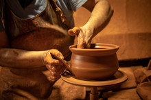 Craftsman Making Pottery