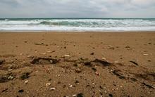 Black Sea Beach In Winter With...