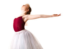 Young Beautiful Ballerina In W...