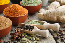 Aromatic Spices And Herbs. Ing...