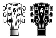 Illustration Of Guitar Head Is...