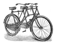 Antique Tandem Bicycle / Old A...