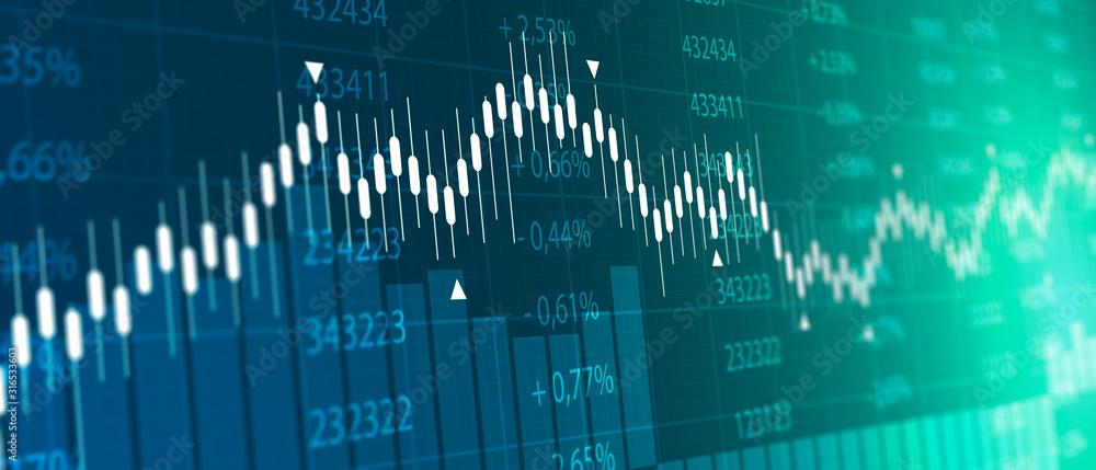 Fototapeta tabellone, grafico, economia, finanza, azioni, mercato