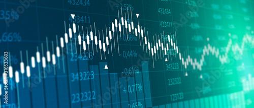 tabellone, grafico, economia, finanza, azioni, mercato Canvas Print