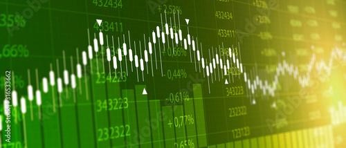 Fotomural tabellone, grafico, economia, finanza, azioni, mercato