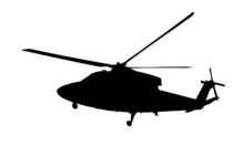 Black Silhouette Of Army Helic...