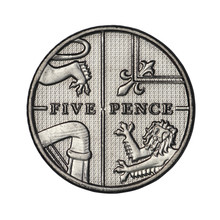 English Five Pence From 2014