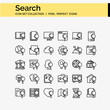 search concept icons set of icons for web and mobile