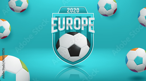 Fotomural football 2020 world championship cup background soccer
