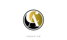 Ca Circle Logo Design Vector I...