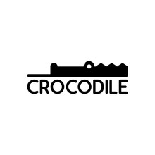 Illustration Vector Graphic Of Crocodile's Head Surfaces Perfect For A Company Logo Or Symbol