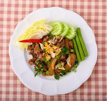 Spicy Pork ,Thai Local Food