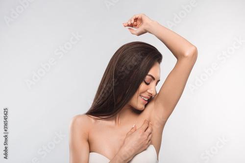 Armpit epilation, lacer hair removal Canvas Print