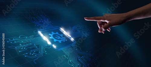 Photo Business, Technology, Internet and network concept