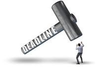 Businessman Failing To Meet The Deadline
