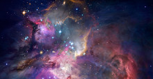Nebula And Galaxies In Space. ...