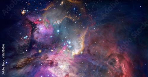 Nebula and galaxies in space. Abstract cosmos background Wallpaper Mural
