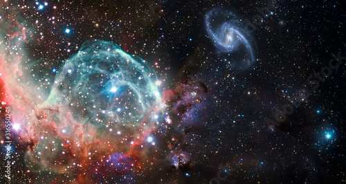 Fototapeta Nebula and galaxies in space. Abstract cosmos background obraz