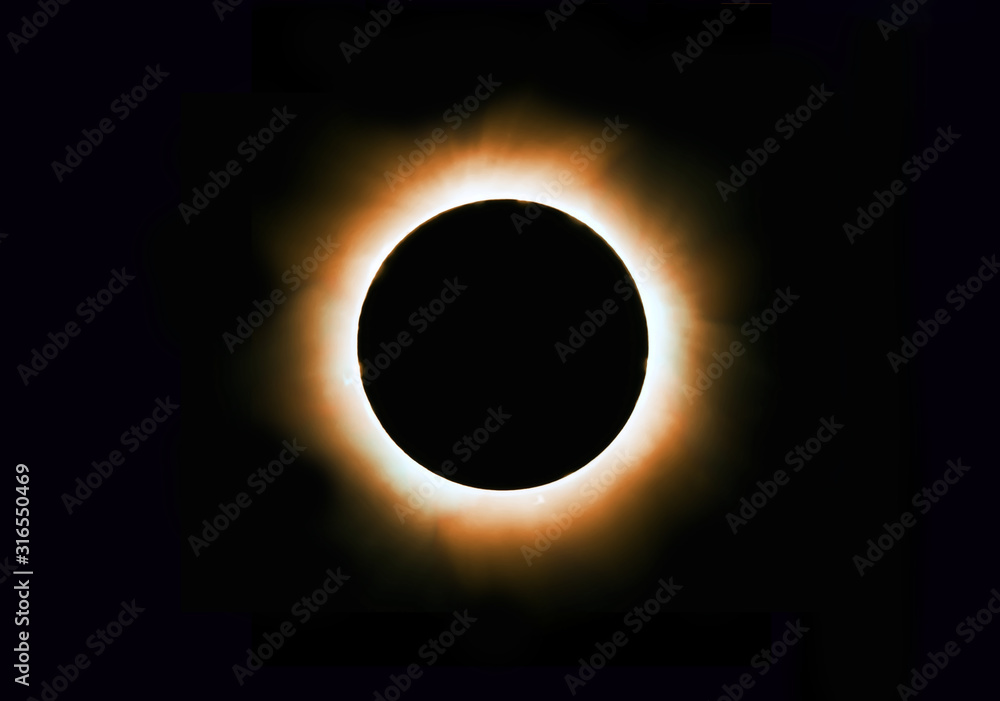 Fototapeta Solar corona full eclipse