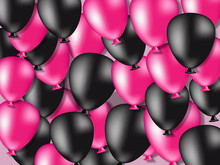 Pink And Black Balloons Sale