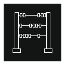 Vector Icon, Shaped Abacus To Tell