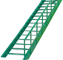 Step Green Metal Ladder On White