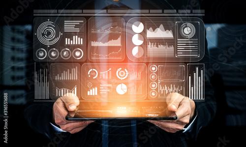 Fotografia Big Data Technology for Business Finance Analytic Concept