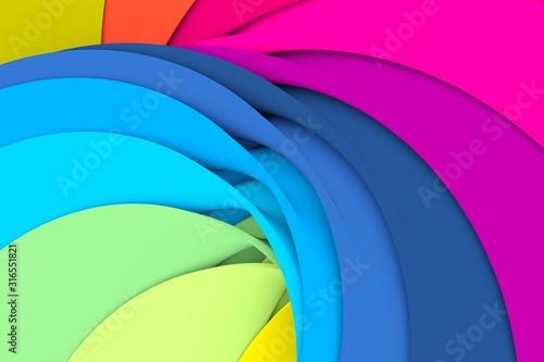 Obraz multicolor curved line abstract background 3D illustration - fototapety do salonu