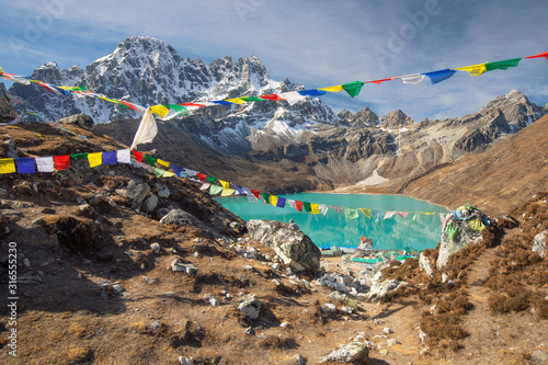 The Famous Lake of Gokyo in Nepal near Everest Base Camp