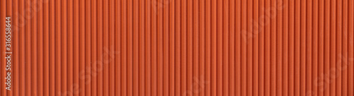 Foto Seamless corrugated wood pattern in orange color / interior material / seamless