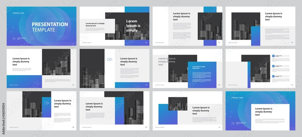 Fototapeta business presentation backgrounds design template and page layout design for brochure ,book , magazine, annual report and company profile , with info graphic elements graph design concept